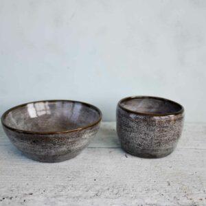 Keramik Becher und Schüssel