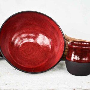 Keramikschüssel Rot
